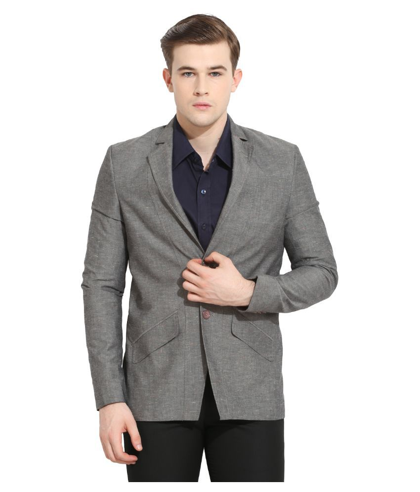 Envoy Grey Casual Blazers