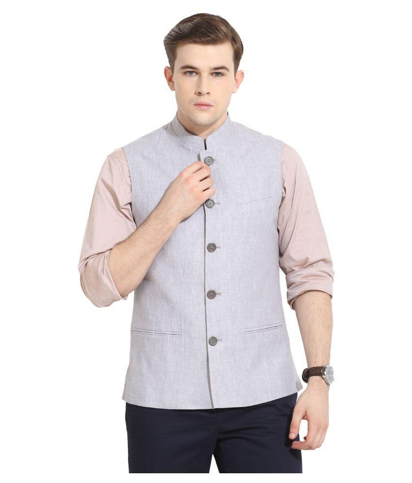 Envoy Grey Casual Waistcoats