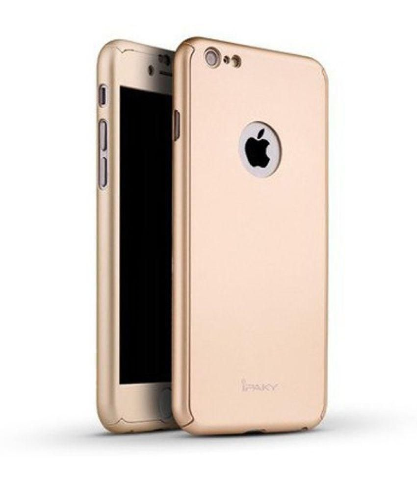 on sale b93a2 dc090 iPaky Back Cover for iPhone 6 Plus / 6S Plus - 360 Degree(Gold)