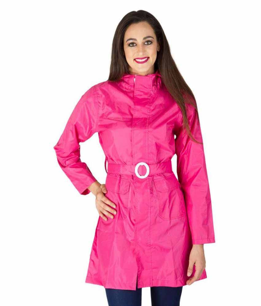 Burdy Pink Waterproof Short Rainwear