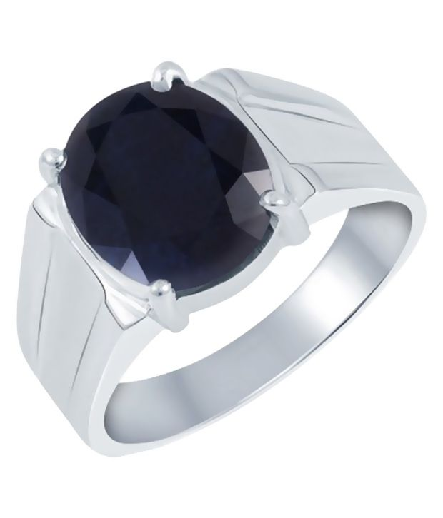 Gem Mines 92.5 BIS Hallmarked Silver Sapphire Ring