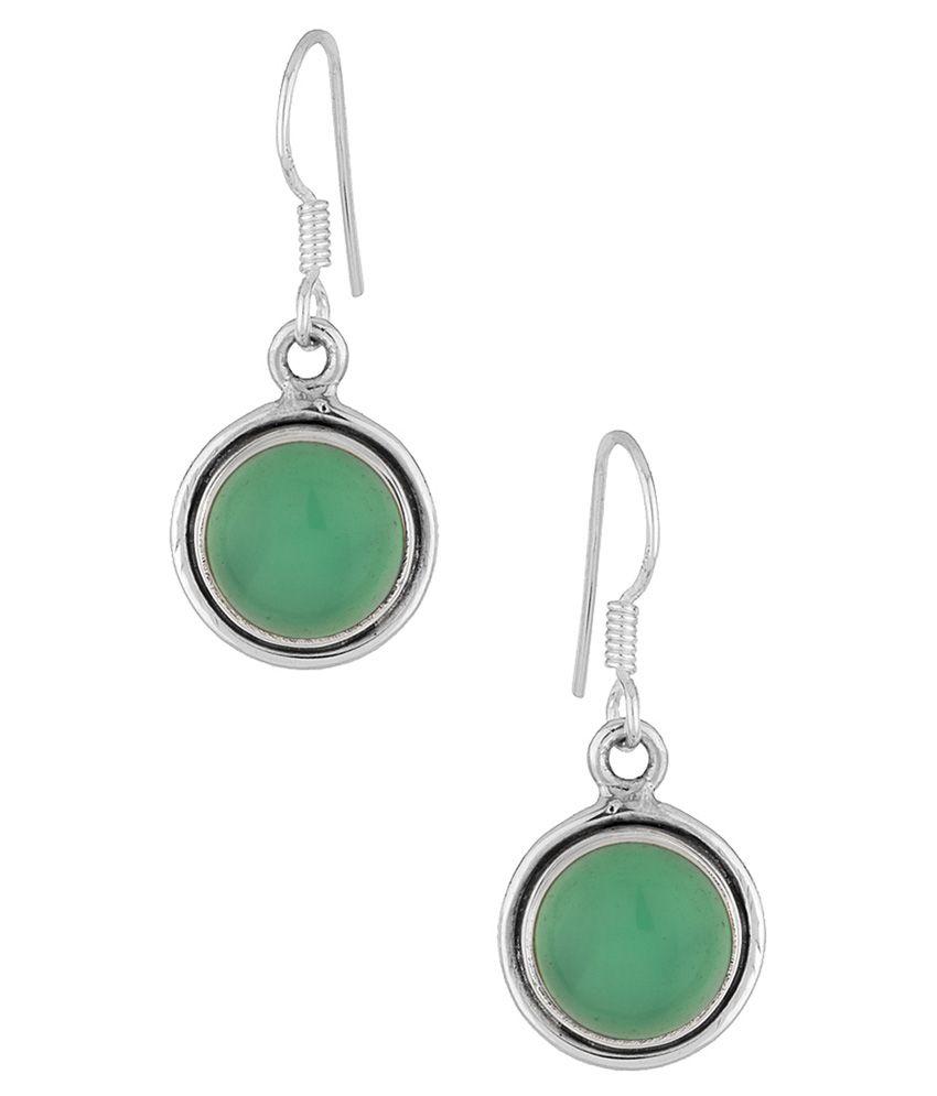 Voylla 92.5 BIS Hallmarked Silver Amber Drops