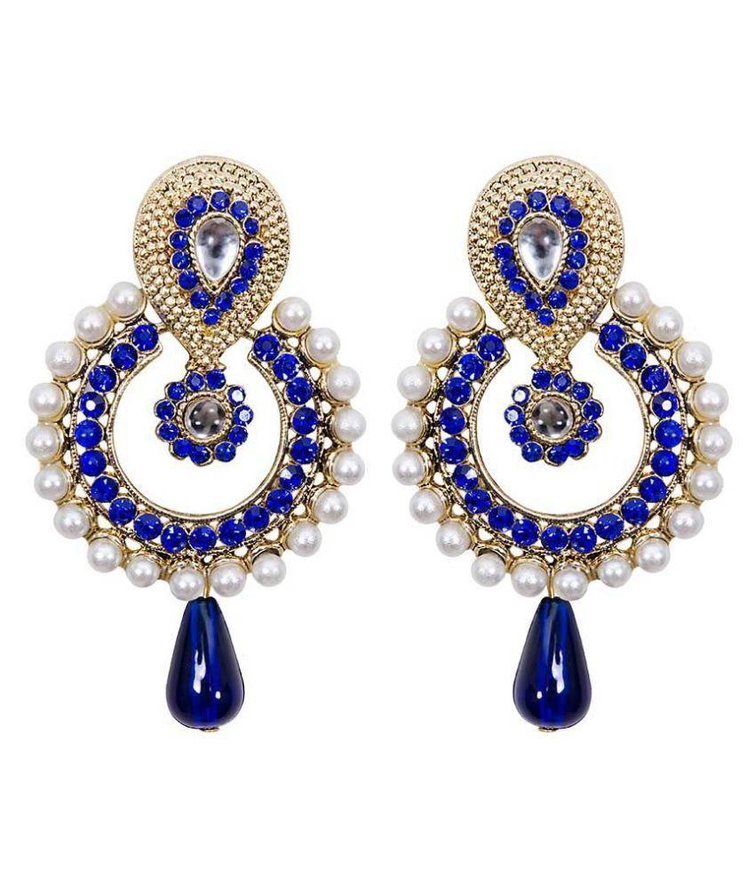 Jewels Guru Multicolour Hanging Earrings