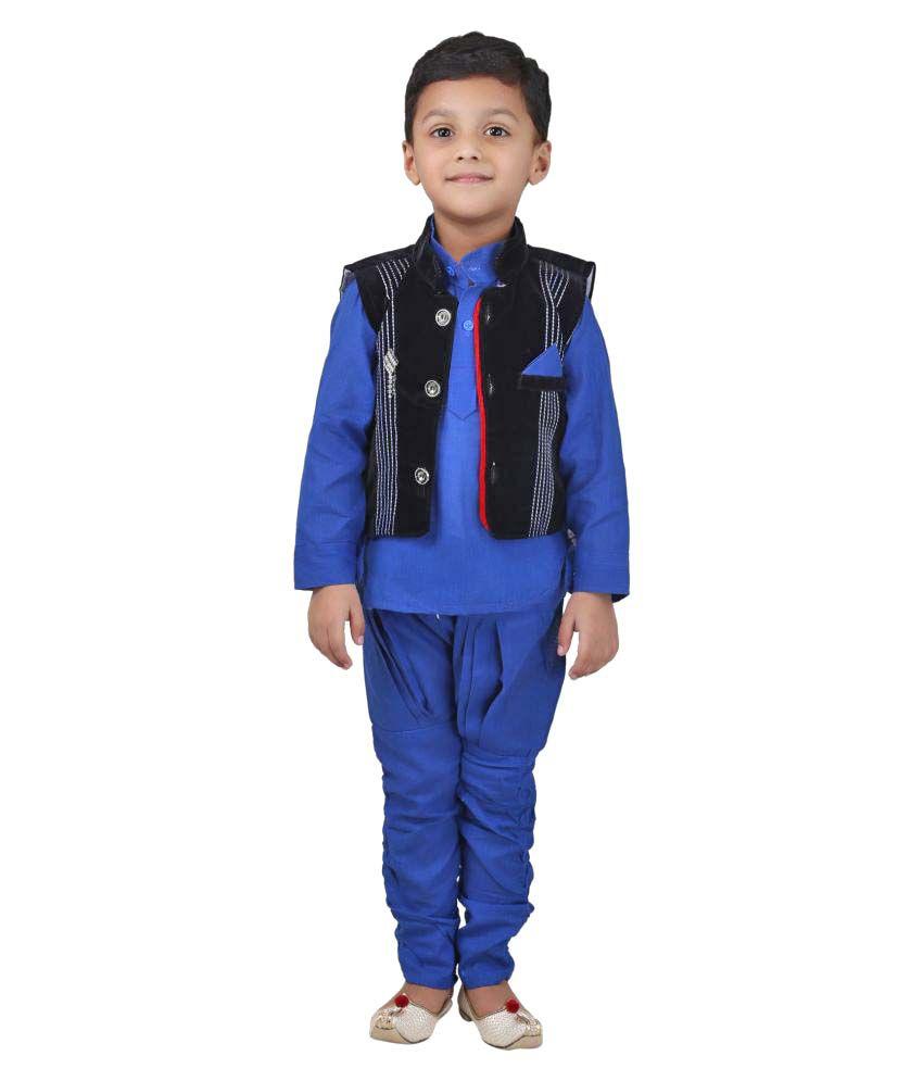 Crazeis Boys Kurta , waistcoat and Churidar set