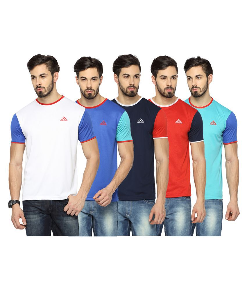 Canyons Multi Round T-Shirt - Pack of 5