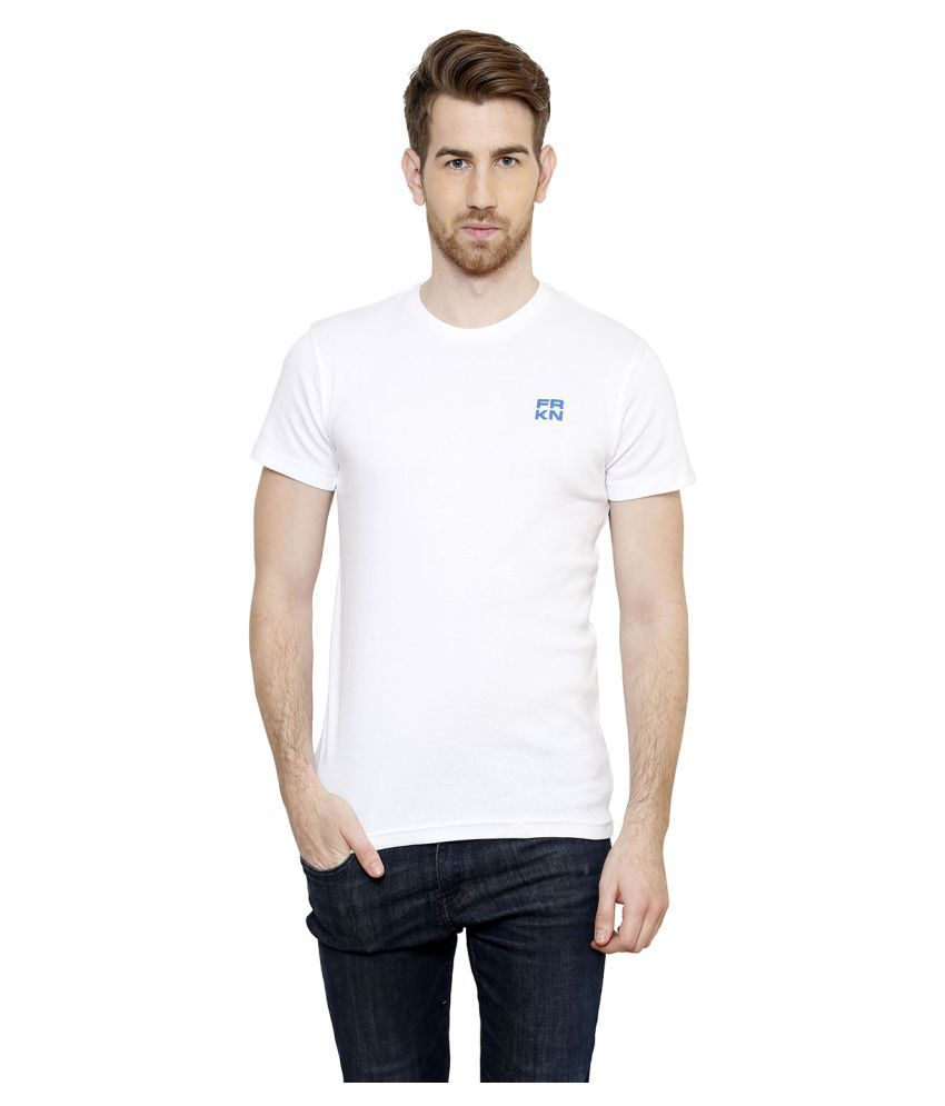 Freak'n By Cotton County White Round T-Shirt