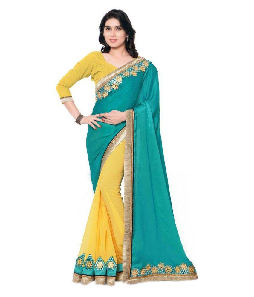Mahaveer Shopee Multicoloured Georgette Saree