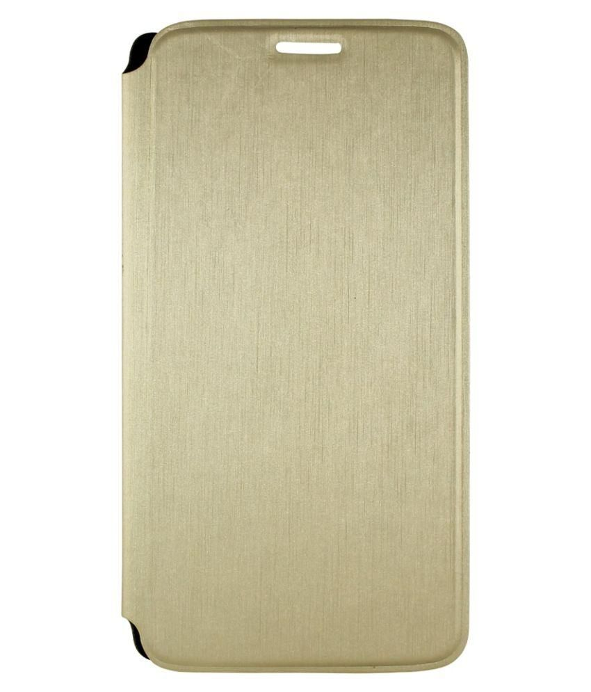 cheap for discount 753fe a98dd Swipe Elite Plus Flip Cover by Molife - Golden
