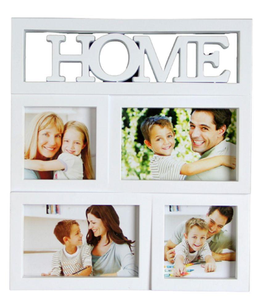 Empreus MDF White Collage Photo Frame