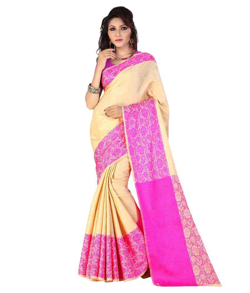 5e169411e259d1 Starlet Diva Beige Cotton Silk Saree - Buy Starlet Diva Beige Cotton Silk  Saree Online at Low Price - Snapdeal.com