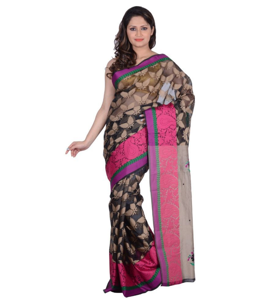 bf0e68f49 RB Sarees Multicolor 100% Pure Chanderi Silk Saree - Buy RB Sarees  Multicolor 100% Pure Chanderi Silk Saree Online at Low Price - Snapdeal.com