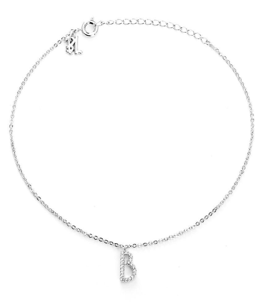 Blinglane Silver Single Anklet