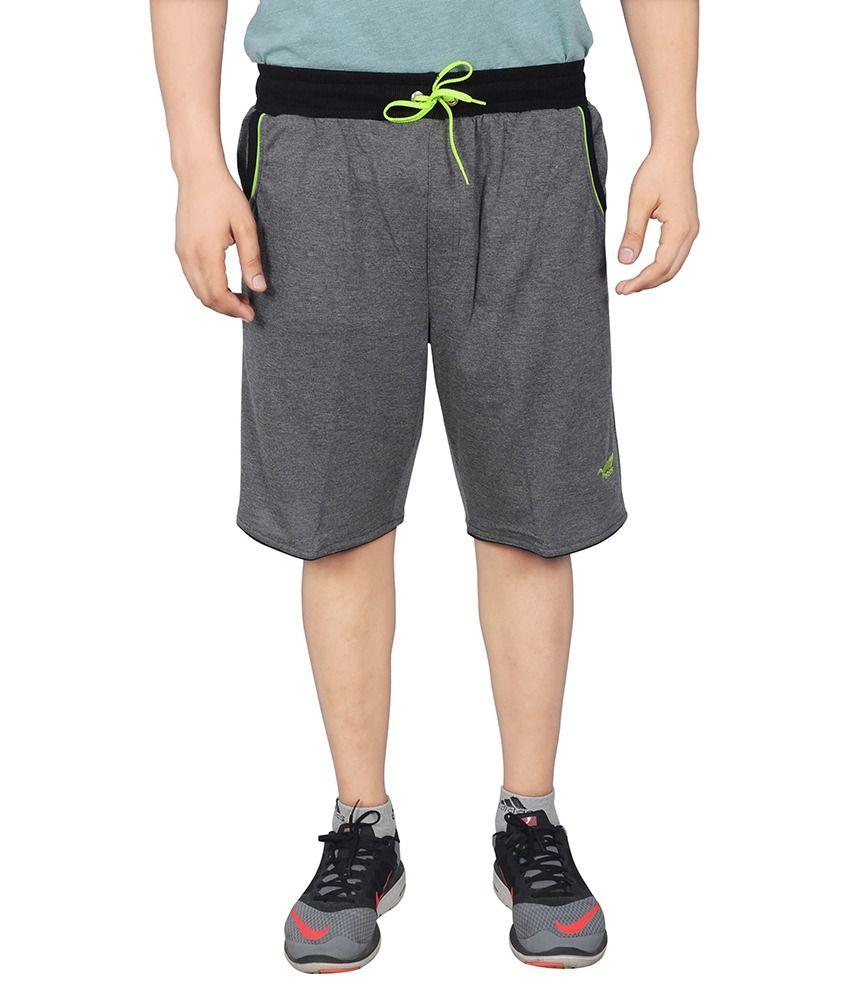 NNN Grey Cotton Shorts