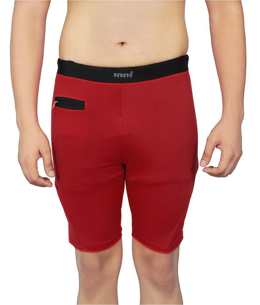 NNN Red Lycra Shorts