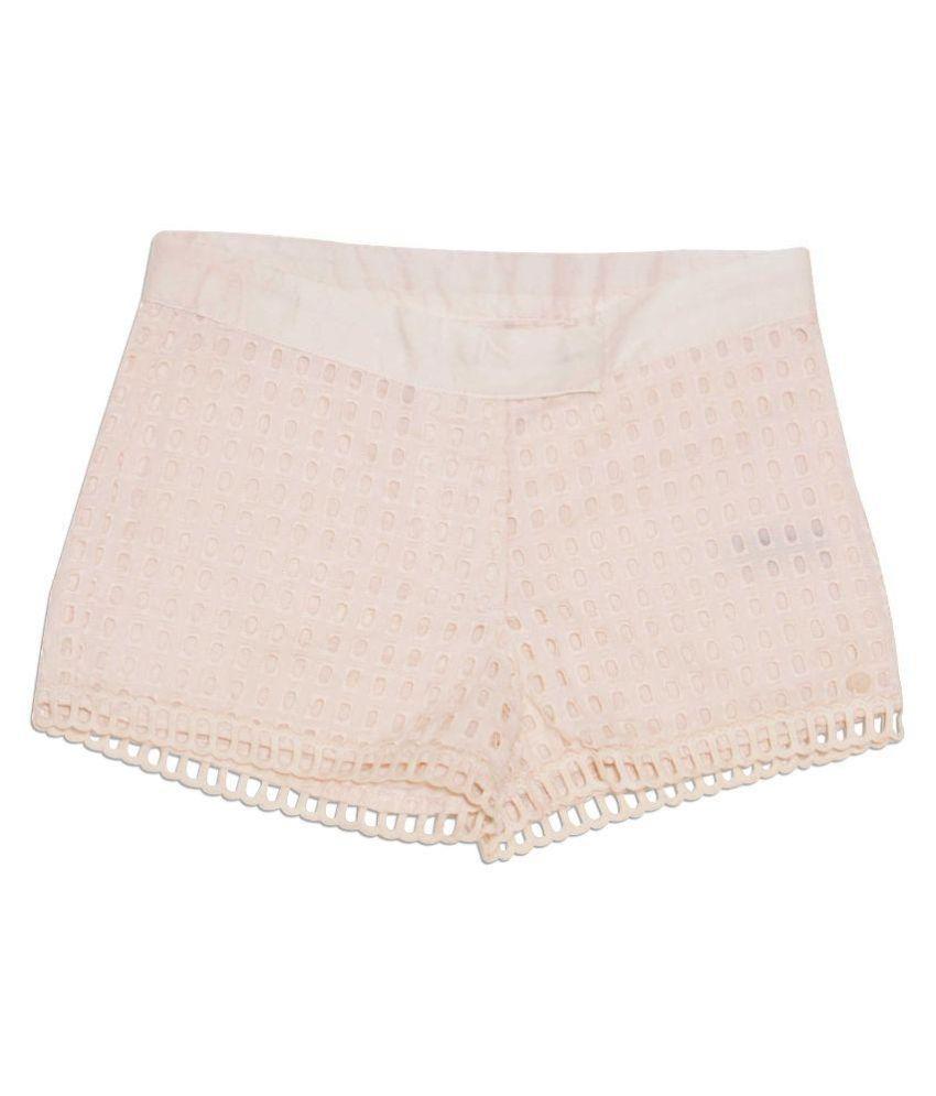 Parv Collections Cream Colour Short
