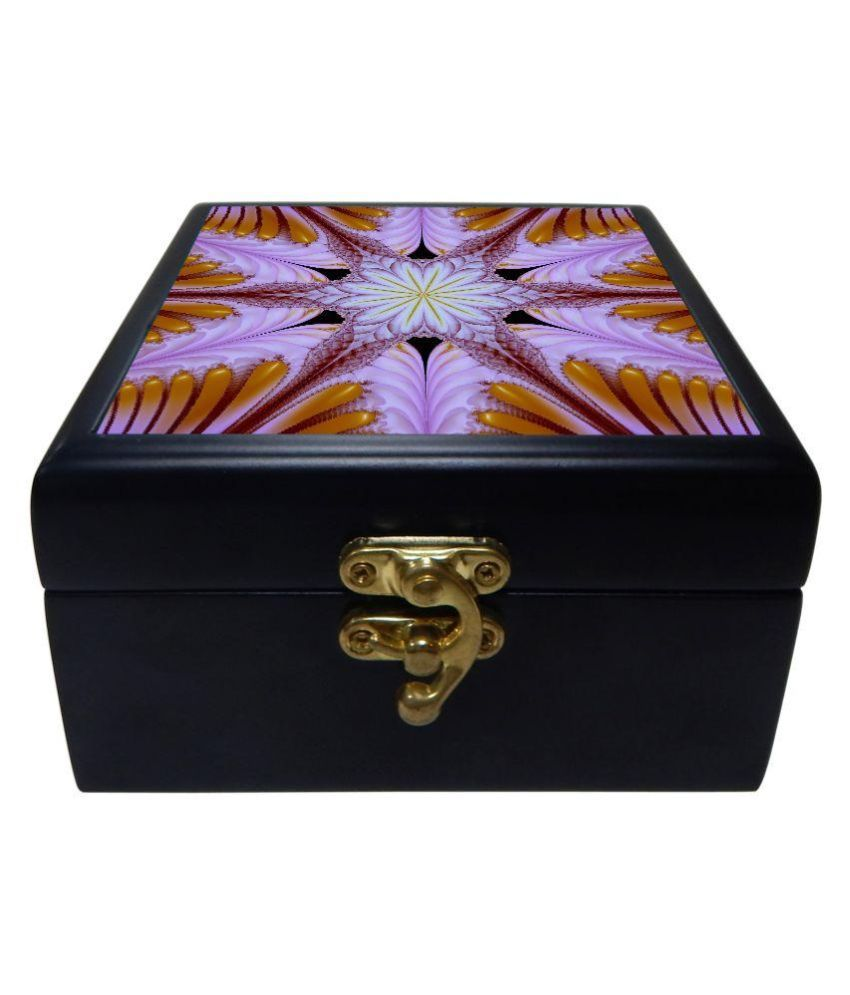 Phototech Black Wooden Jewellery Box