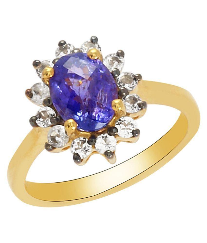 Shine Jewel 92.5 Silver Tanzanite Ring