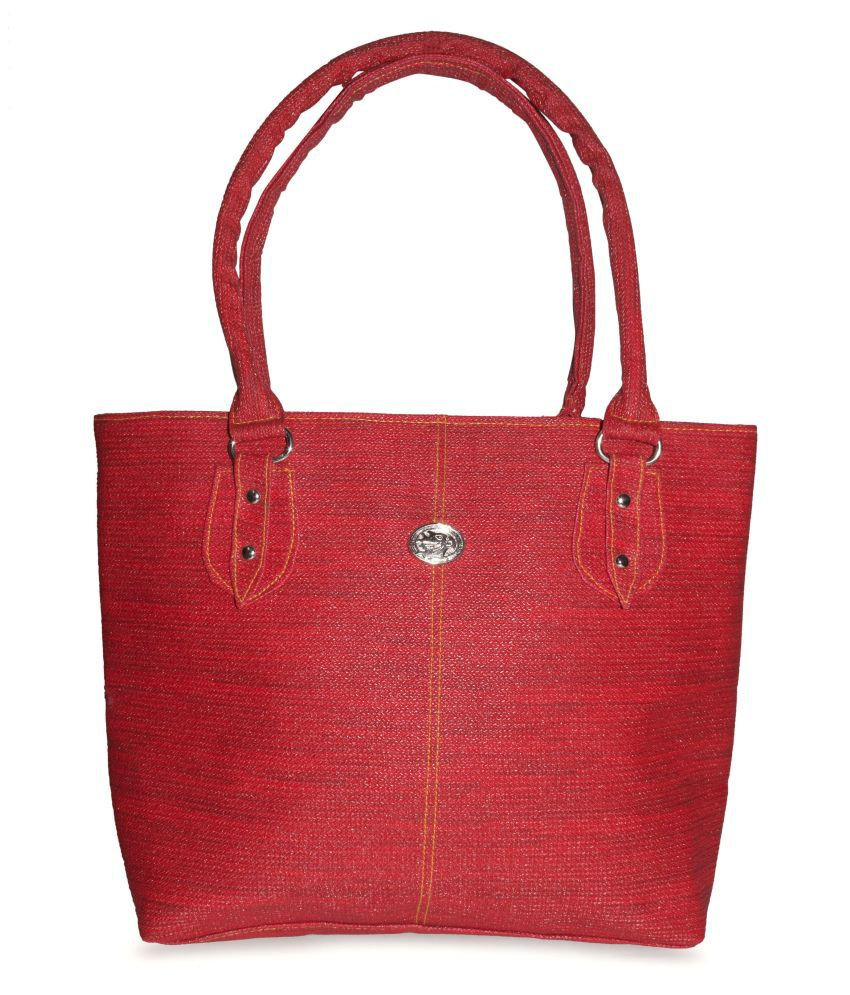 Style Zone Red Faux Leather Shoulder Bag