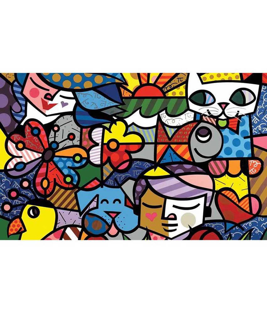 Tallenge Multicolour Canvas Art Print