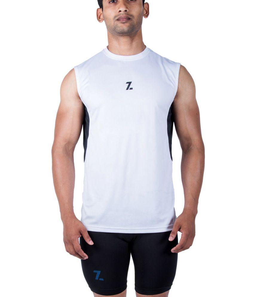 Azani White Polyster T-Shirt