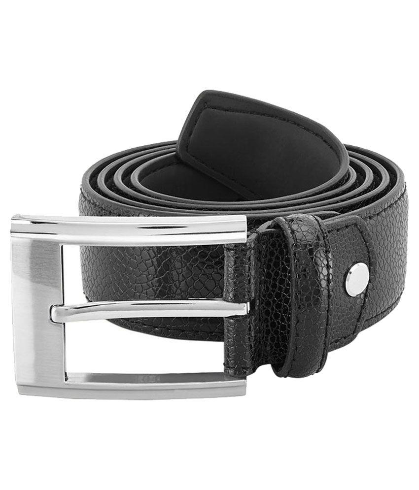 Park Avenue Black Leather Belt