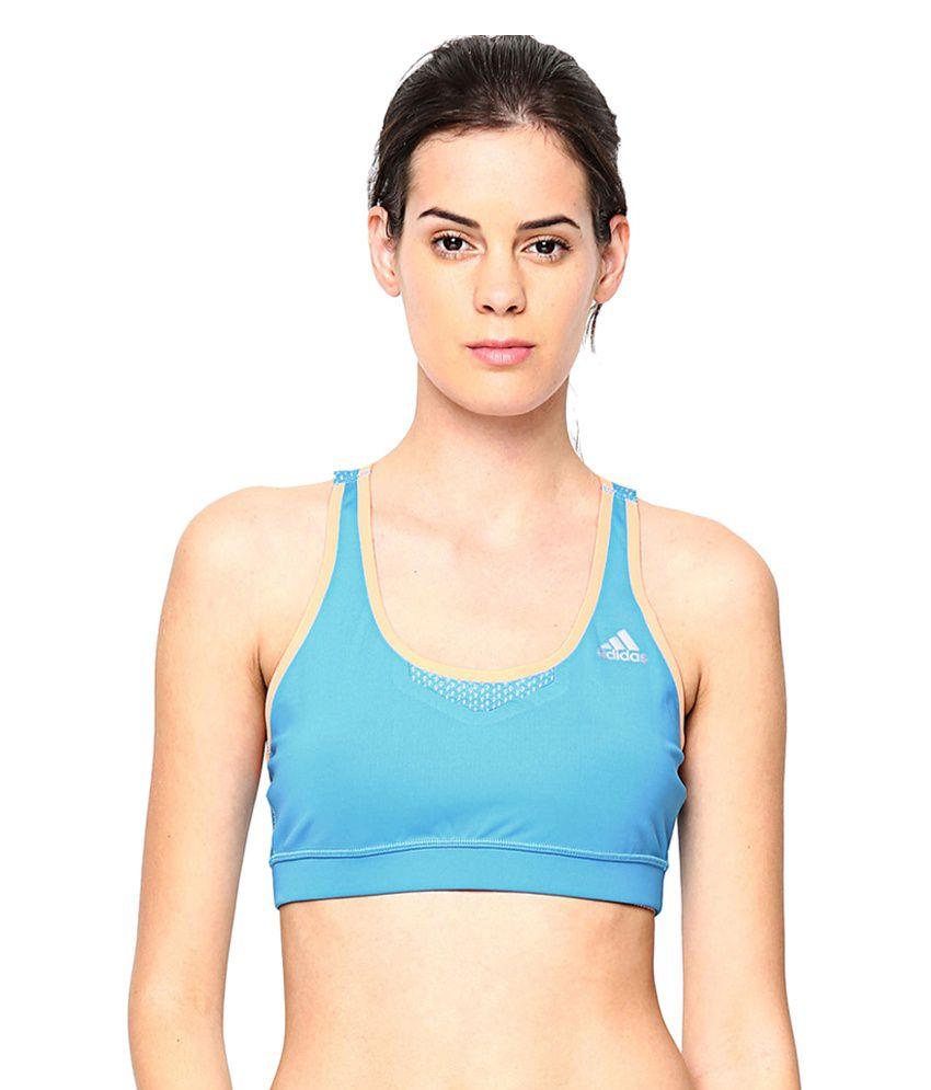 Adidas Blue Tf Bond Sports Bra