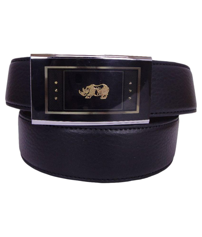 Revo Black Leather Belt for Men