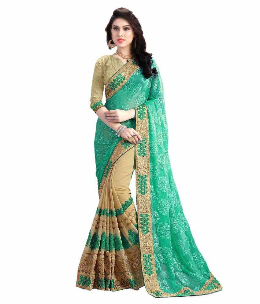 290385a11 Ethnicandstyle Designer Sarees Multicoloured Georgette Saree Price in India