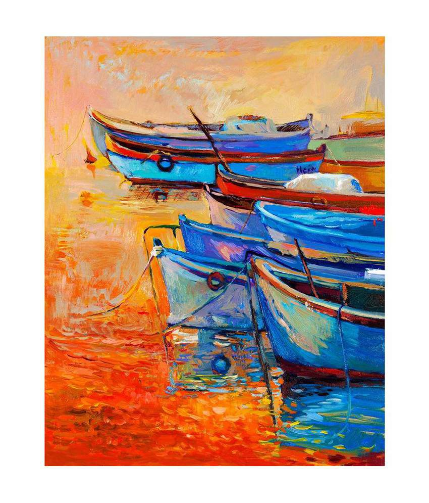 ArtzFolio Online Art Marketplace Canvas Hand Paintings With Frame Single Piece