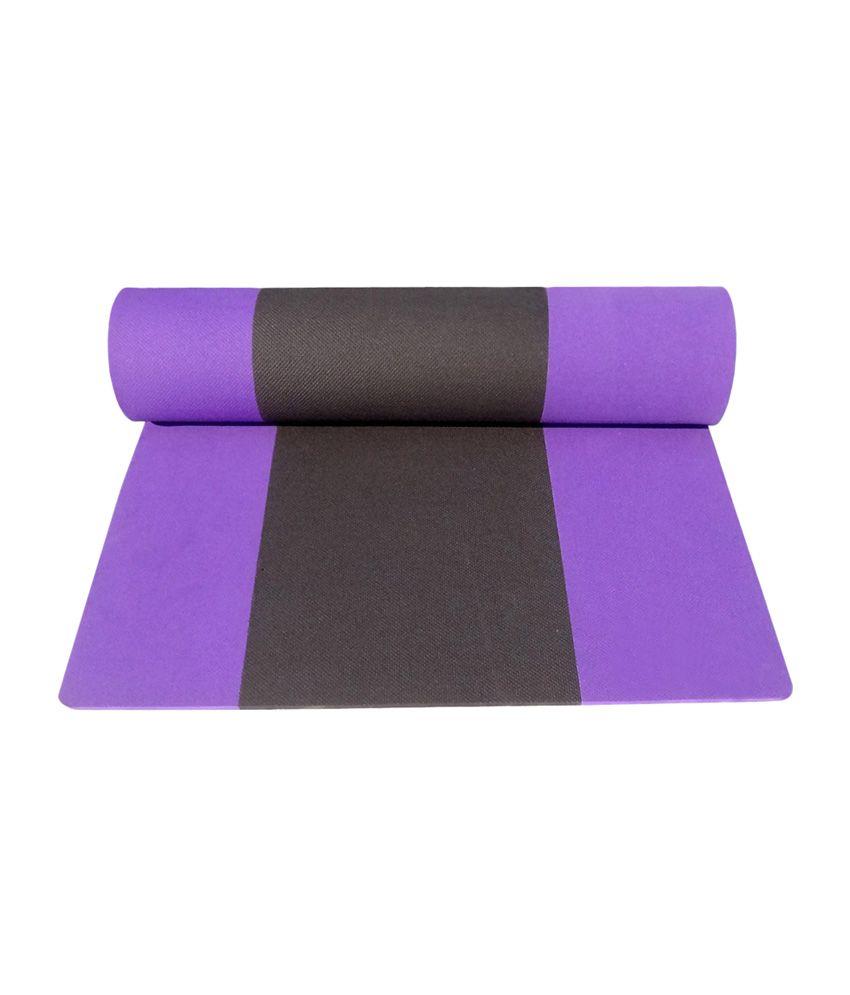 Gym Mats B M: Aerolite Striped Yoga Mat With Bag And Carry Band: Buy