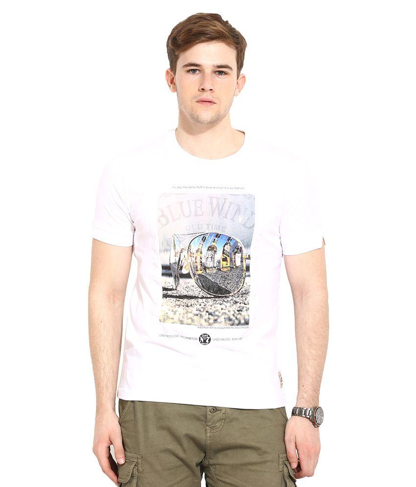 Duke White Round Neck T Shirt