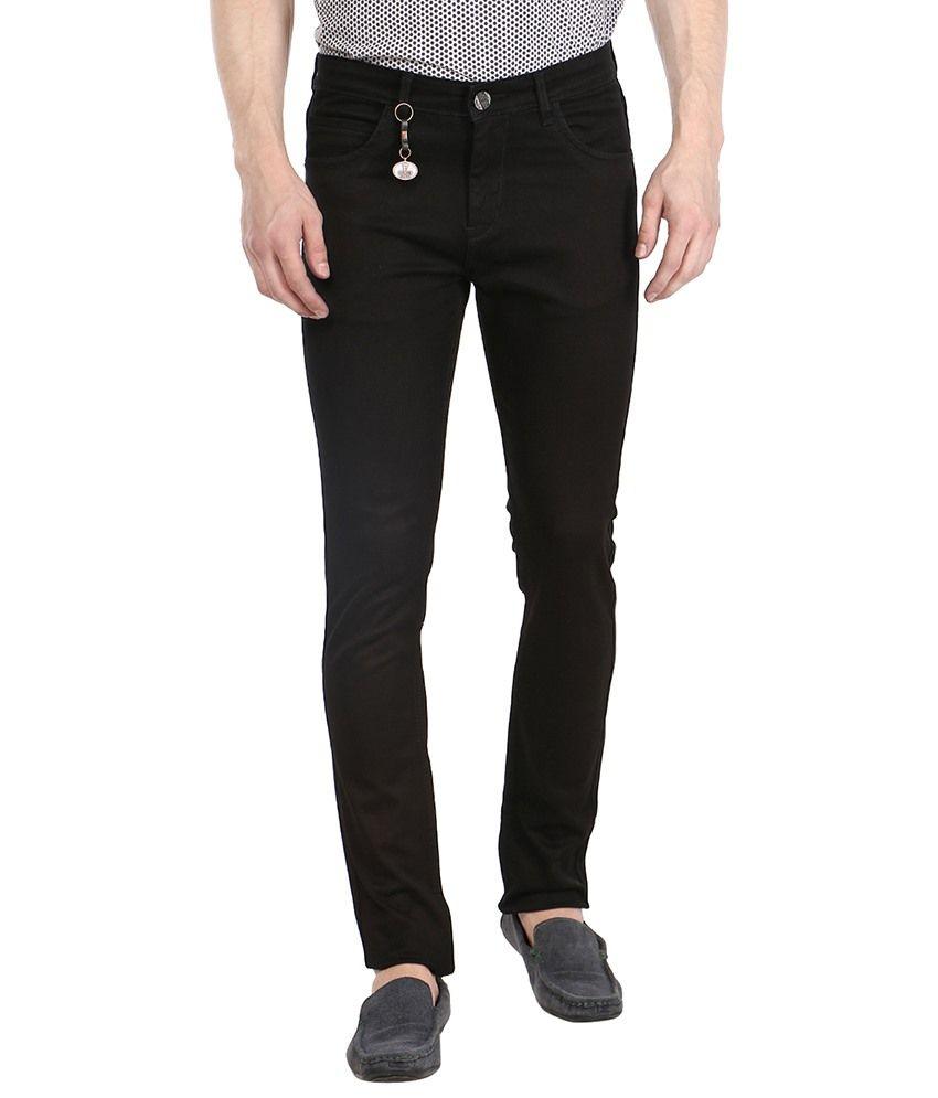 Fever Black Slim Solid Jeans