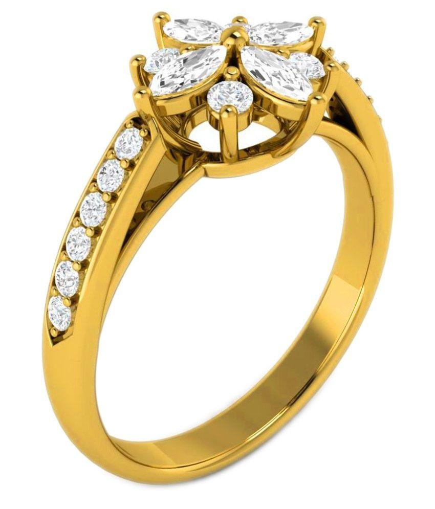 Vijisan 92.5 BIS Hallmarked Silver Cubic zirconia Ring