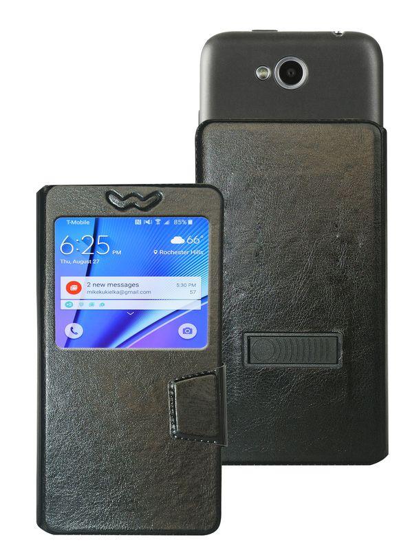 Karbonn K9 Smart Flip Cover by Corcepts - Black