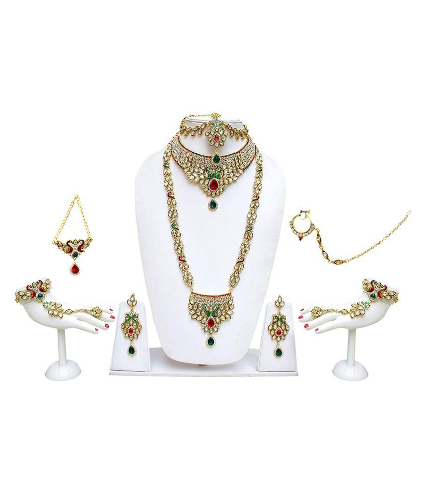 Lucky Jewellery Multicolour Alloy Necklace Set