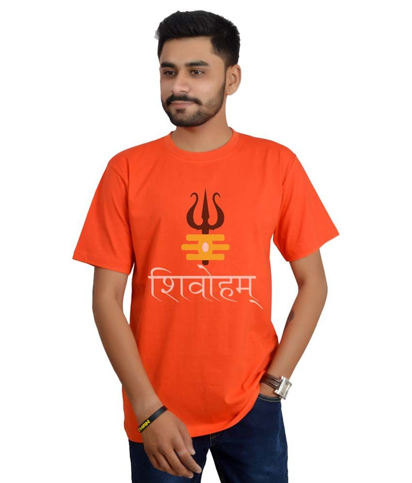 Swag Theory Orange Round T-Shirt