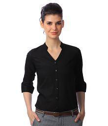 Scorpius Black Cotton Shirts