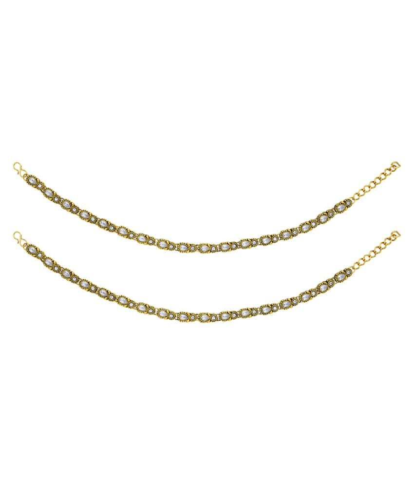 BeBold Golden Pair of Anklets