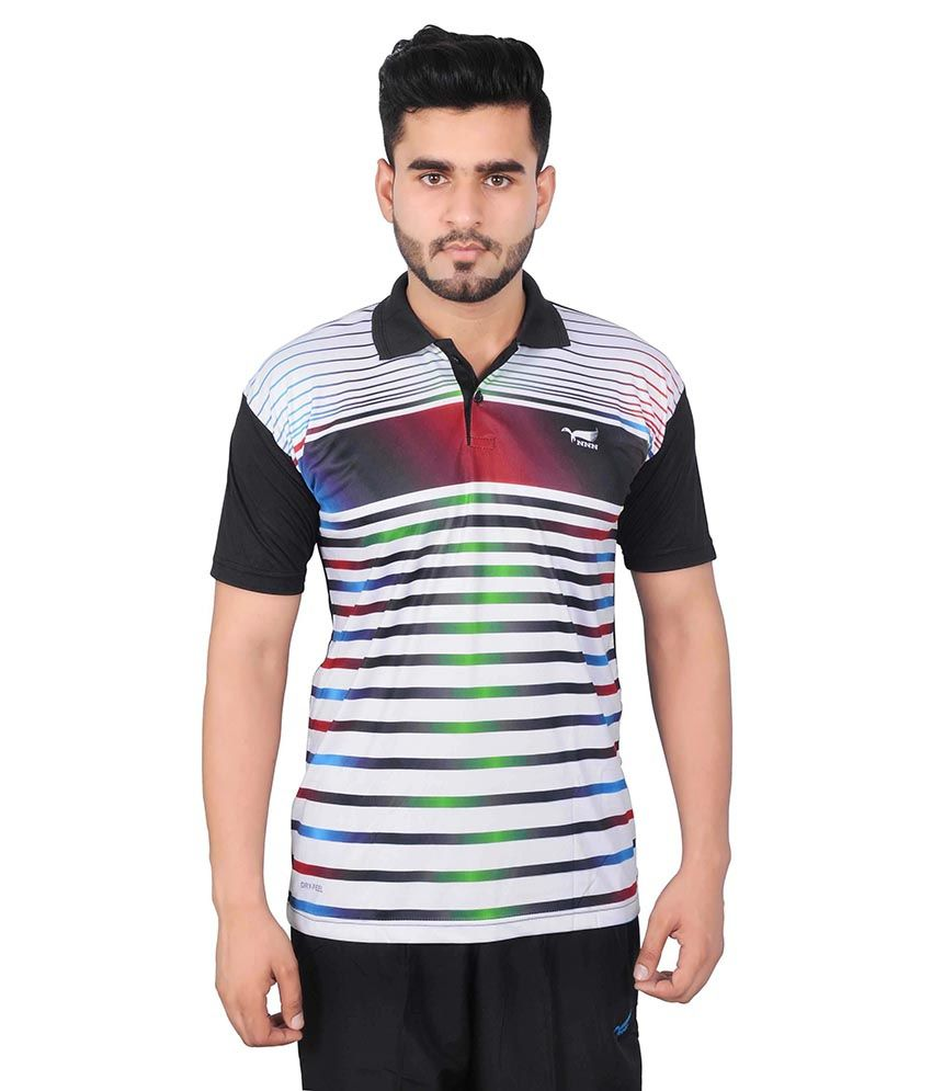 NNN Multicolour Polyester T Shirt