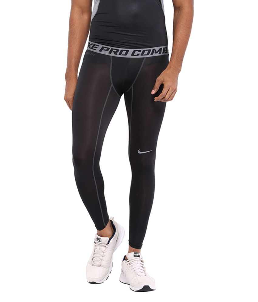 Nike Black Core Compression Training Tights for Men