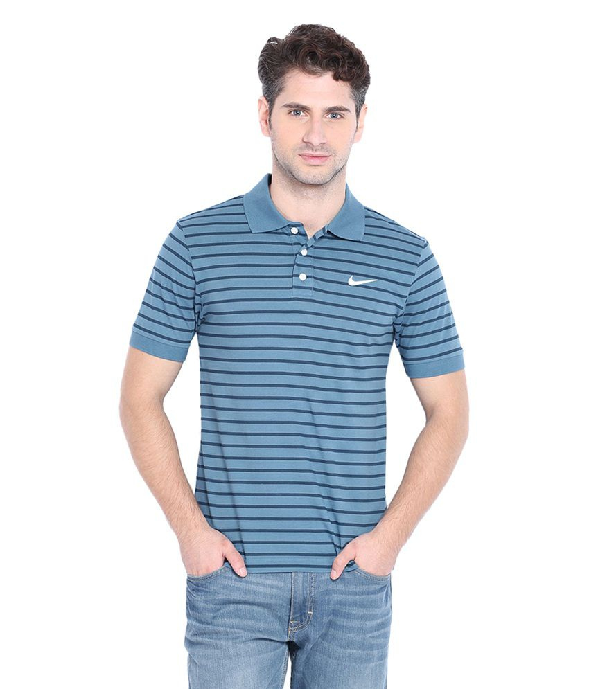 Nike Blue Matchup Polo NSW T-Shirt for Men