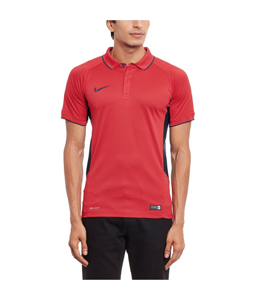 Nike Round Neck Polyester Polo Shirt for Men