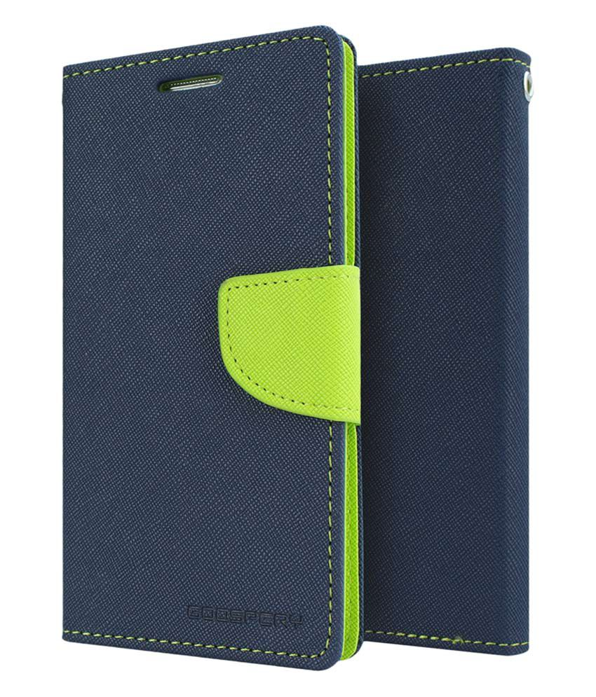 Micromax Canvas Juice 2 Flip Cover by GOOSPERY - Blue