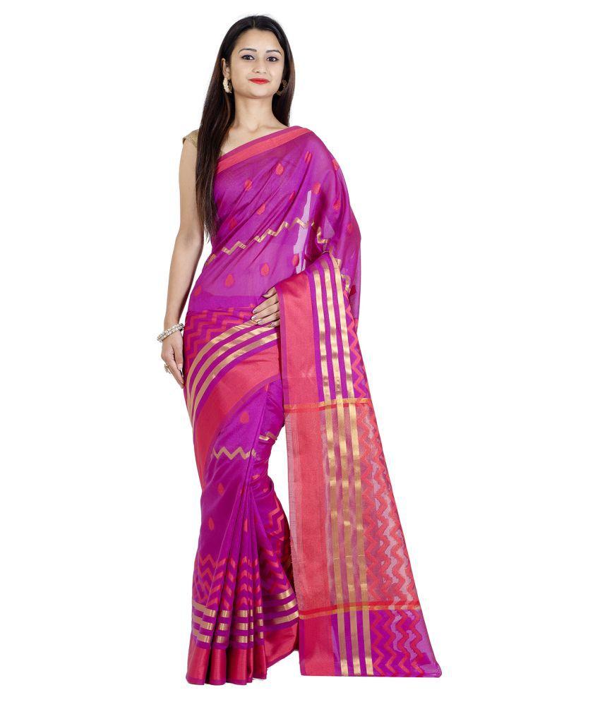Chandrakala Purple Art Silk Saree