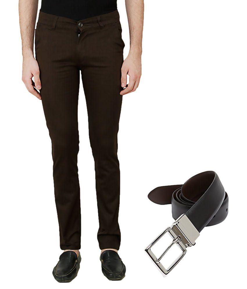 Ansh Fashion Wear Brown Regular Flat With Belt