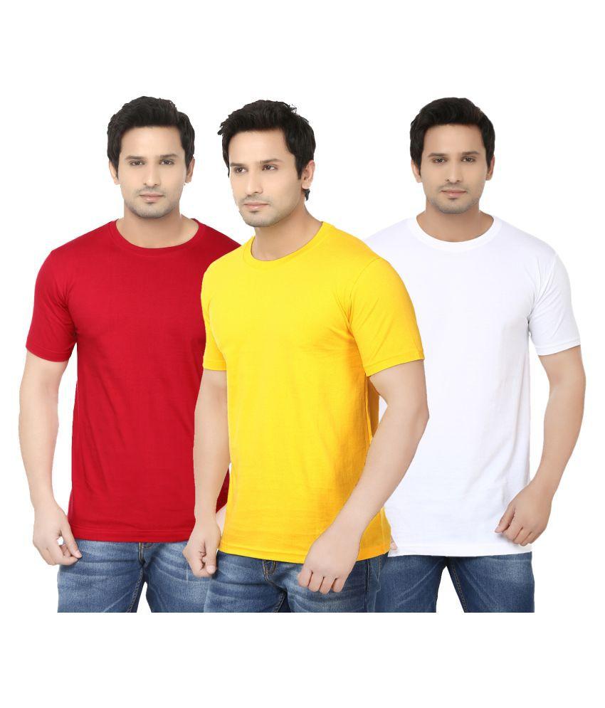 Ben Carter Multi Round T-Shirt Pack of 3