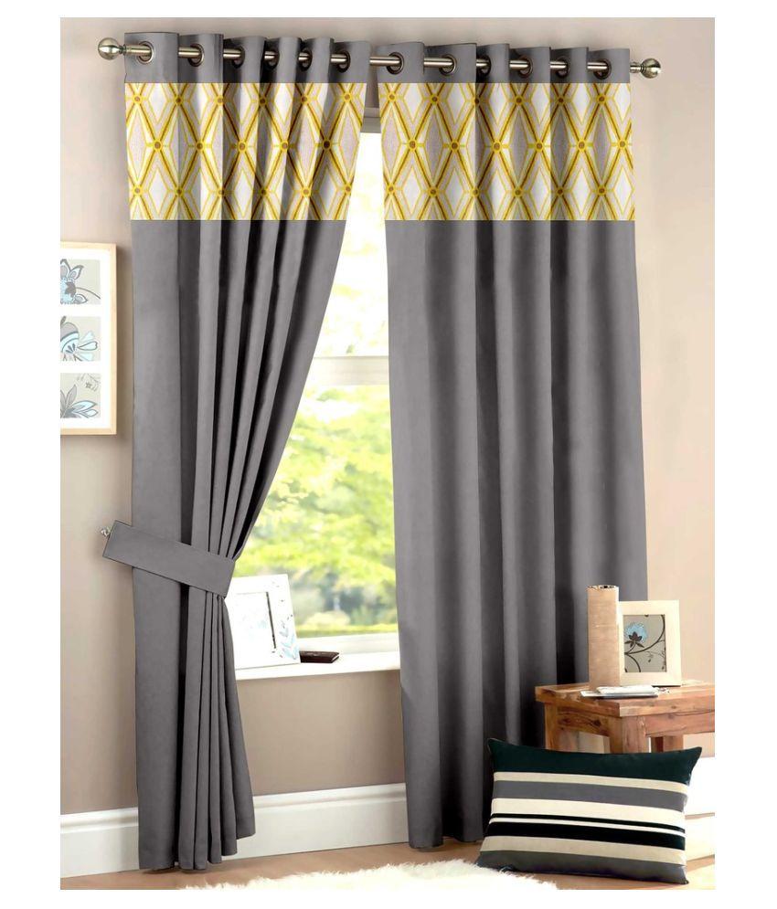 Homec Set of 2 Long Door Eyelet Curtain