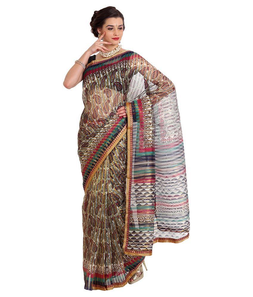 Aryahi Multicoloured Synthetic Saree