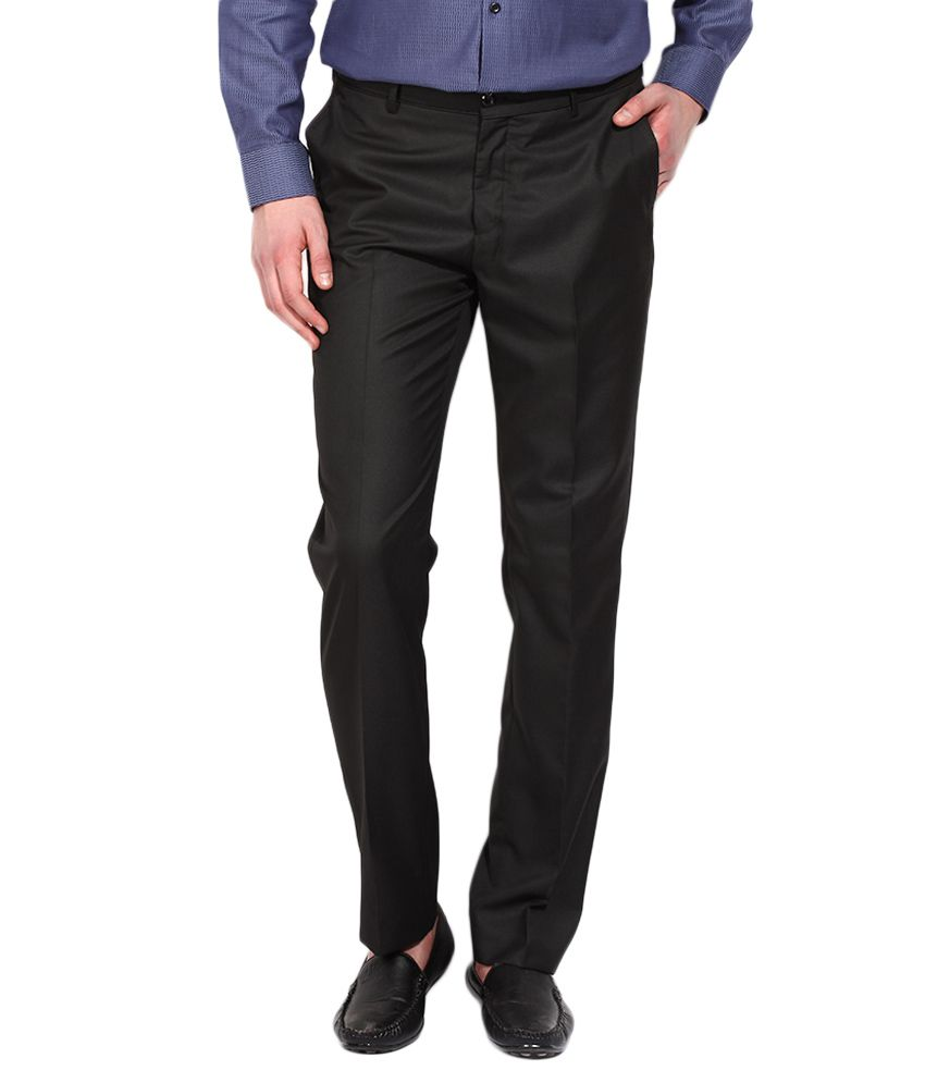 BLACKBERRYS Black Regular Fit Casual Trousers