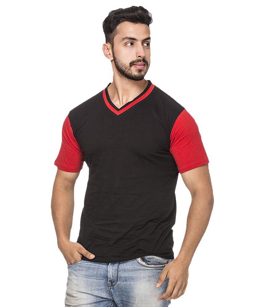 Demokrazy Black V-Neck T-Shirt
